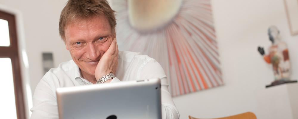 Arno Gottschalk zu hause in Bremen